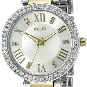 Relic By Fossil Isabelle Two Tone Crystal Watch